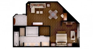 MGM Grand Las Vegas - City View Suite floor plan