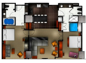 Elara Las Vegas 2 bedroom floor plan
