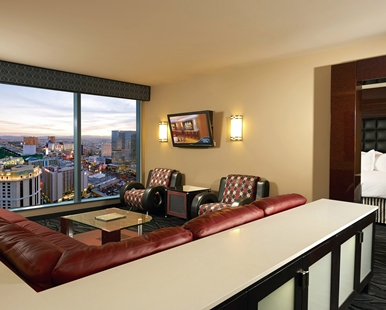 Elara a hilton grand vacations 2 king 2 bedroom premier suite with sofabed for Elara las vegas 4 bedroom suite