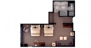 MGM Grand Las Vegas - Executive Queen Suite floor plan